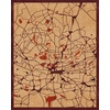 "16""x20"" Woodcut Map of Randburg"