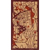 "9""x16"" Woodcut Map of Jerusalem"