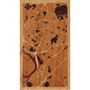 "9""x16"" Woodcut Map of Trenton"