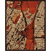 "16""x20"" Woodcut Map of Bronx"
