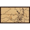 "16""x9"" Woodcut Map of Jerusalem"