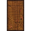 "9""x16"" Woodcut Map of Des Plaines"