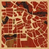 "8""x8"" Woodcut Map of Amsterdam"