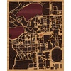 "16""x20"" Woodcut Map of South Bend"