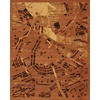 "16""x20"" Woodcut Map of Amsterdam"