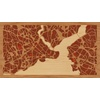 "16""x9"" Woodcut Map of İstanbul"