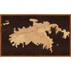 "30""x18"" Woodcut Map of St. John"