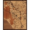 "16""x20"" Woodcut Map of Aliso Viejo"