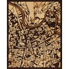 "16""x20"" Woodcut Map of Grenoble"