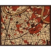 "20""x16"" Woodcut Map of Grenoble"