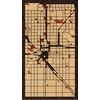 "9""x16"" Woodcut Map of Fresno"