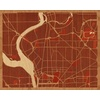 "20""x16"" Woodcut Map of New York"