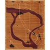 "16""x20"" Woodcut Map of Grand Island"