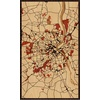 "18""x30"" Woodcut Map of Bordeaux"