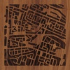 "8""x8"" Woodcut Map of Amman"