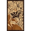 "9""x16"" Woodcut Map of Karachi"