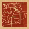"8""x8"" Woodcut Map of Spencerport"