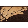 "16""x9"" Woodcut Map of Kiawah Island"
