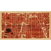 "16""x9"" Woodcut Map of Englewood"
