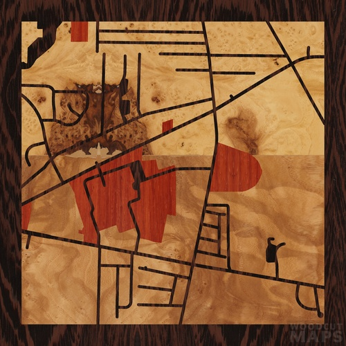 Orchard Park New York Map.Wood Inlay Maps Of Orchard Park New York Woodcut Maps
