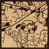 "8""x8"" Woodcut Map of Cary"