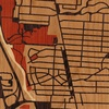 "8""x8"" Woodcut Map of Clintonville, OH"