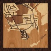 "8""x8"" Woodcut Map of Groton"