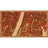 "16""x9"" Woodcut Map of Bronx"