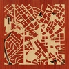 "8""x8"" Woodcut Map of Silver Spring"