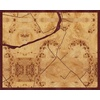 "20""x16"" Woodcut Map of Taneytown"