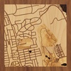 "8""x8"" Woodcut Map of Port Washington"