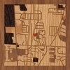 "8""x8"" Woodcut Map of 4193036495"